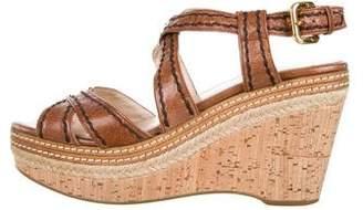 Prada Distressed Crossover Sandals