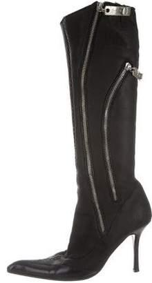 Giuseppe Zanotti Zipper-Accented Knee-High Boots