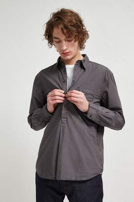 French Connenction Garment Dye Poplin Popover Collared Shirt