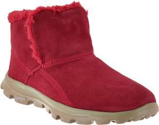 Skechers GOwalk Suede Faux Fur Boots w/ Memory FormFit-Imprint