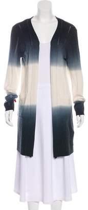 Neiman Marcus Ombré Open Front Cardigan