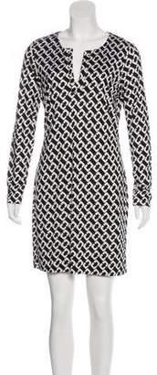 Diane von Furstenberg Reina Silk Printed Mini Dress