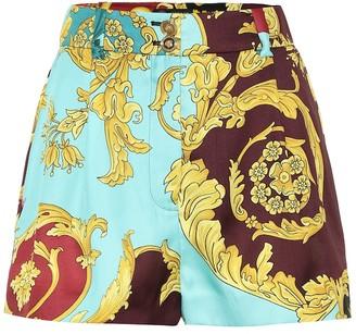 Versace High-rise baroque printed shorts