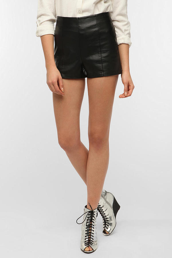 Sparkle & Fade High-Rise Vegan Leather Pinup Short
