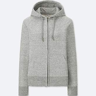Uniqlo Women's Sweat Long-sleeve Full-zip Hooded Sweatshirt