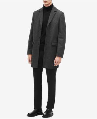 Calvin Klein Men's Classic-Fit Herringbone Overcoat