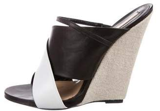 Narciso Rodriguez Leather Crossover Wedges