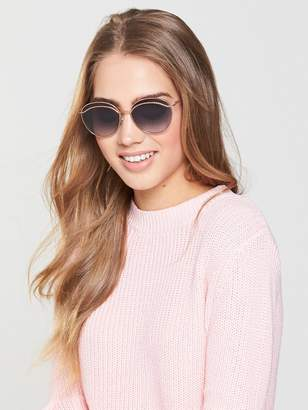 Marc Jacobs Round Twist Detail Sunglasses