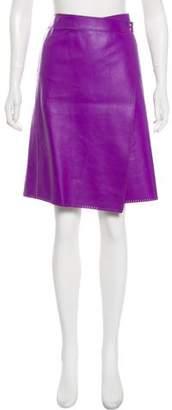 Tommy Hilfiger Leather Knee-Length Skirt