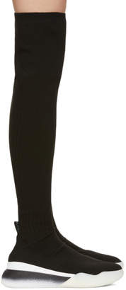 Stella McCartney Black Over-The-Knee Sock Sneakers