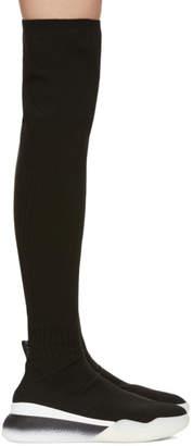 Stella McCartney Black Over-The-Knee Sock Sneakers