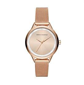 Armani Exchange Harper Rose Gold Watch