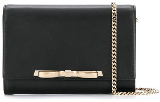 RED Valentino RED(V) bow detail clutch
