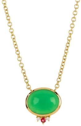 Ippolita 18K Gold Prisma Mixed-Cut Chrysoprase, Sapphire, & Diamond Necklace