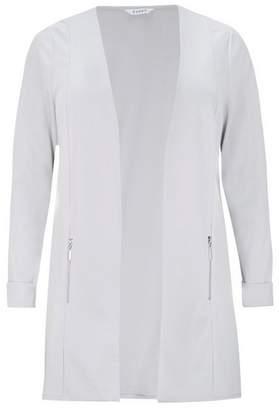 Evans Grey Longline Tailored Jacket