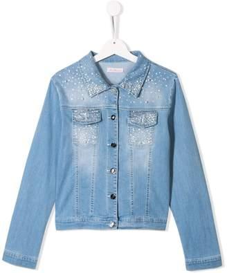 Miss Blumarine gem embellished jean jacket