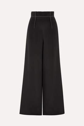 Cushnie - Silk-crepe Wide-leg Pants - Black