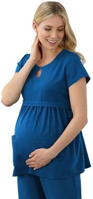 Jockey Plus Size Maternity Scrubs Empire Waist Top