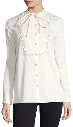 Temperley London Fountain Lace Bib Shirt