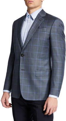 Emporio Armani Men's Super 130s District Check Sport Coat