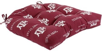 """College Covers Texas A&M Aggies Indoor / Outdoor Seat Cushion Patio D Cushion 20"""" x 20"""", 2 Tie Backs"""