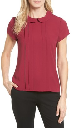 Women's Cece Pleat Peter Pan Blouse $69 thestylecure.com