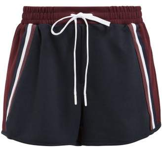 The Upside Wolfpack Contrast Panel Performance Shorts - Womens - Burgundy Navy