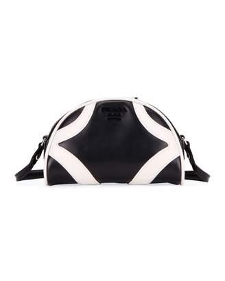 Prada Soft Calf Bowler Shoulder Bag