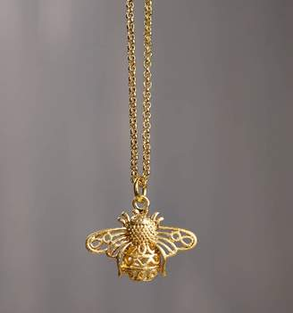 Bumble Bee Lime Lace Gold Bumblebee Necklace