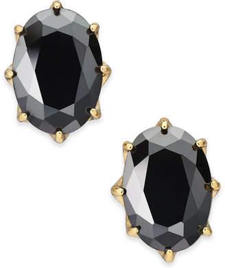 Kate Spade Gold-Tone Stone Oval Stud Earrings