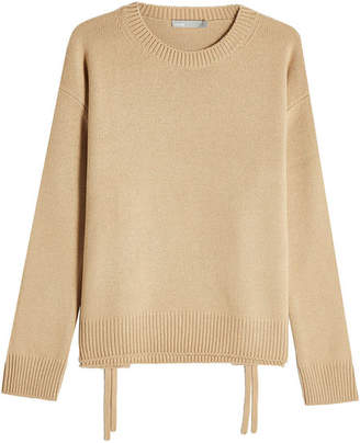 Vince Cashmere Pullover with Lace-Up Sides