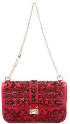 Valentino Embellished Glam Lock Flap Bag