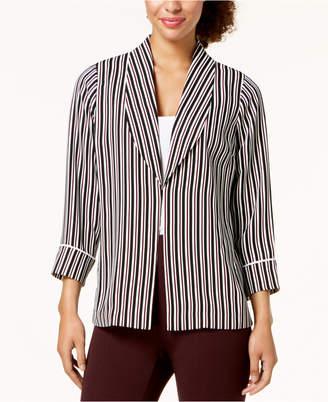 Alfani Striped Shawl-Collar Jacket