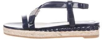 Christian Dior Patent Espadrille Sandals