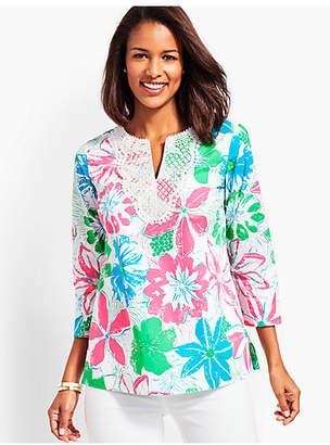 Talbots Lace Bib Tunic-Anguilla Floral
