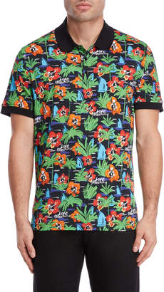 Love Moschino Printed Tipped Polo