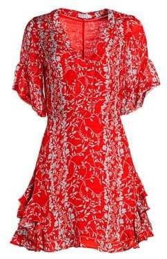 Tanya Taylor Kayla Silk Floral Mini Dress