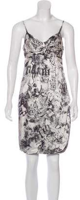 John Galliano Silk Printed Dress