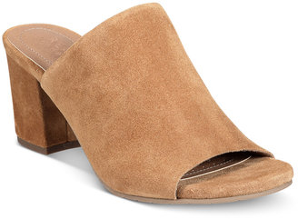 Kenneth Cole Reaction Mass-Ter Mind Peep-Toe Mules Women's Shoes $79 thestylecure.com