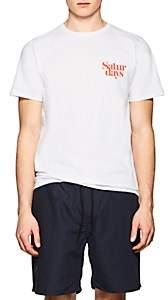 Saturdays NYC Men's Miller Logo Cotton T-Shirt - White