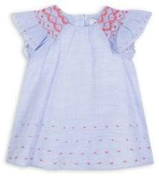 Tartine et Chocolat Baby Girl's& Little Girl's Micro Striped Embroidered Dress