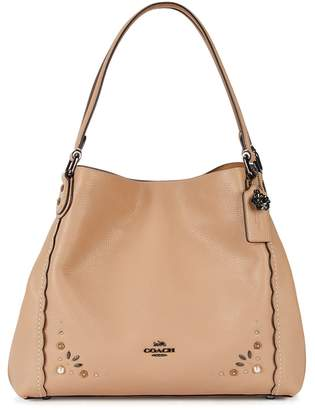 Coach Edie 31 Almond Embellished Leather Tote