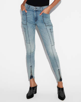 Express Eco-Friendly High Waisted Stretch Cargo Jean Leggings