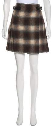Prada Wool-Blend Mini skirt