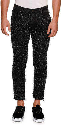 Dolce & Gabbana Distressed Woven Slim Ankle Jeans