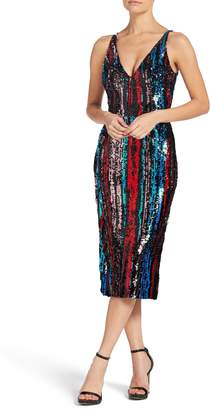Dress the Population Margo Plunge Neck Sequin Dress