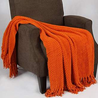 Home Soft Things Boon Knitted Tweed Throw Couch Cover Blanket
