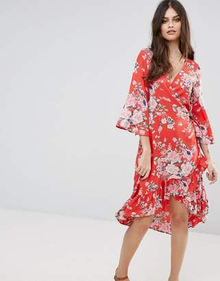 Vero Moda Floral Wrap Dress $56 thestylecure.com