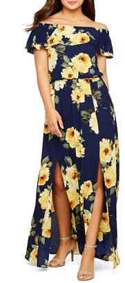 489061e76dc5fd PREMIER AMOUR Premier Amour Off The Shoulder Floral Maxi Dress