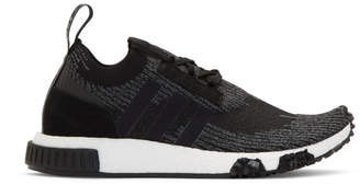 adidas Black and Grey NMD-Racer PK Sneakers